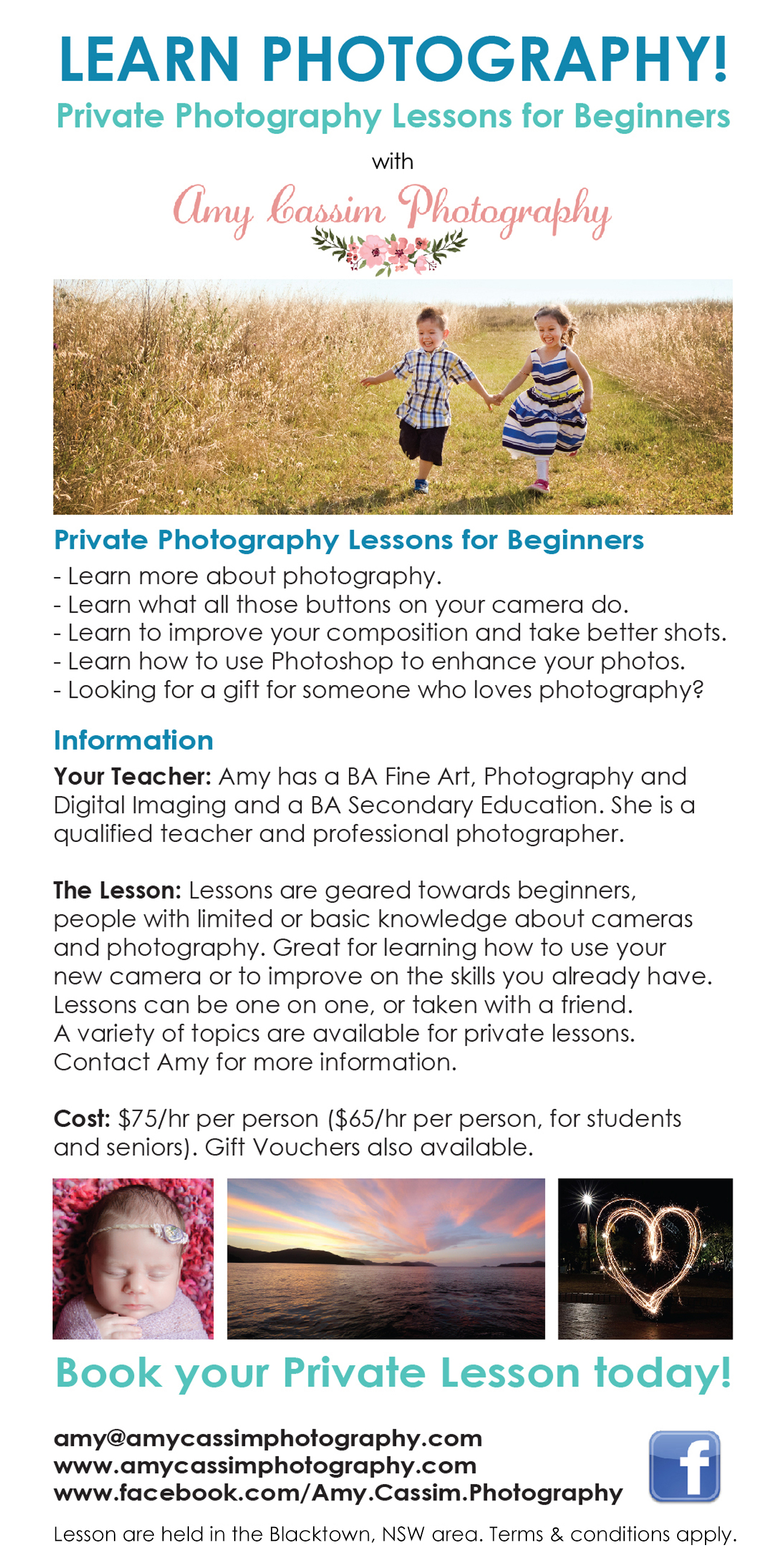 Amy Cassim Photography | Private Photography Lessons